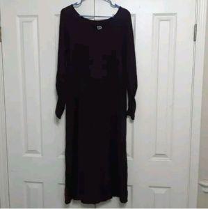Blue Fish 0 S M Burgundy Sweater Dress Maxi
